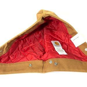 NWT Vtg USA Carhartt Hood Brown Quilt Lined A04